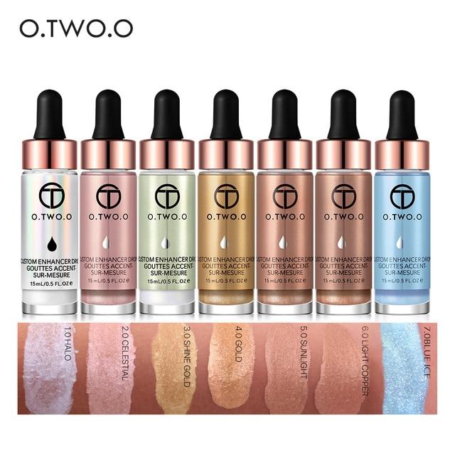 O. DEUX. O Liquide Surligneur Maquillage Amorce Shimmer Éclat Visage Ultra-concentré éclairante bronzage gouttes Visage Maquillage 5