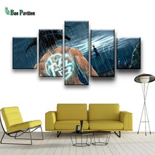 Printed Modern HD Painting Canvas 5 Panel Cartoon Dragon Ball Modular Picture Wall Art Home Decoration Posters Frame Living Room