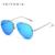 Navio do russo veithdia marca sem aro moda unissex óculos de sol espelho óculos de sol masculino óculos polarizados para homens/mulheres 3811