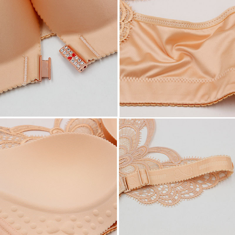 YinMar 2018 Sexy Bras for Women Wirefree Front Closure Plus Size 120CDE Cup Seamless Lace Racerback Bra Brassiere Soutien Gorge