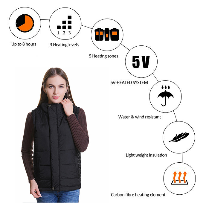Image 3 - Men/Women S XXXXL USB Charging Electric Heated Vest Winter Heating Vest Temperature Control Safety Clothing for Outdoor Work-in Safety Clothing from Security & Protection