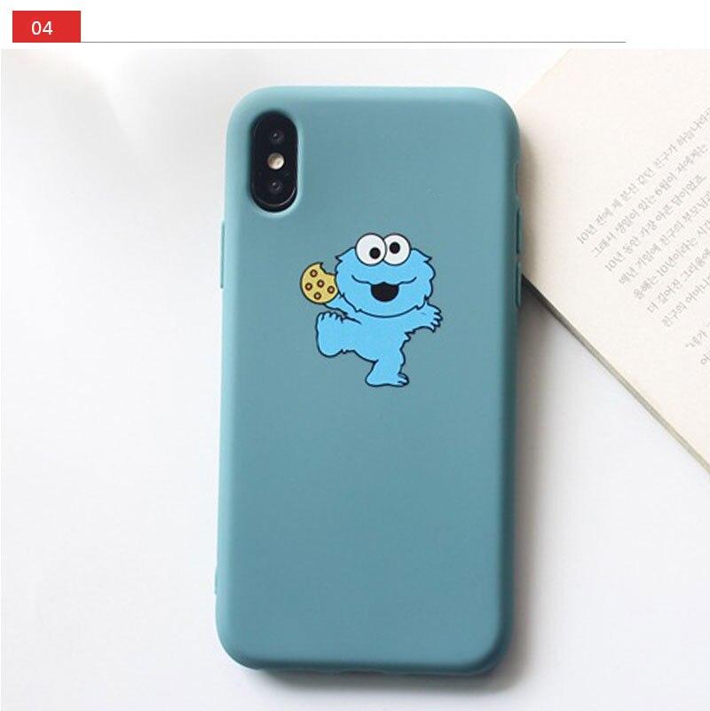 Sesame Street Case For iPhone 8 8plus 7 7 Plus Cases Silicone Phone Case For iphone 6 s 6s Plus X XR XS Max Cases Cover Coque    (18)