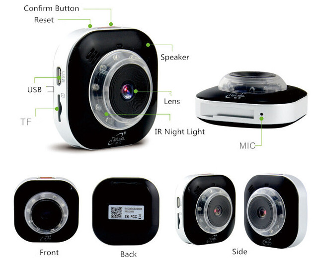 Relee RLDV 103 Wearable Portable IP Camera Wireless WiFi CCTV Home Security  Action DVR Driving