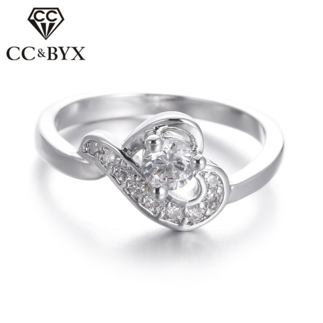 beautiful wedding ring heart shape design vintage ladies rings engagement rings for women trendy accessories bijoux - Beautiful Wedding Rings