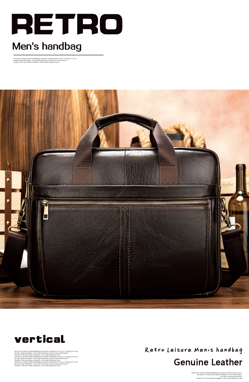 HTB1RwO0Ur2pK1RjSZFsq6yNlXXai WESTAL briefcase messenger bag men's genuine leather 14'' laptop bag men's briefcases office business tote for document 8572