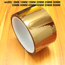 30m Gold Finger Brown High Temperature Tape Polyimide Insulation Suitable For 3d Printer 0 06mm thick 110mm 20m high temperature resist esd one side adhension tape polyimide film for motor insulation