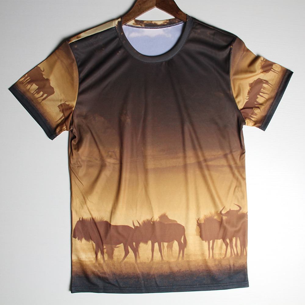 863b2844 Wild African 3D T Shirts Men Camouflage Man T-Shirt Spandex Natural Scenery  Mens tshirt O Neck Casual Tees Tops Free Shipping