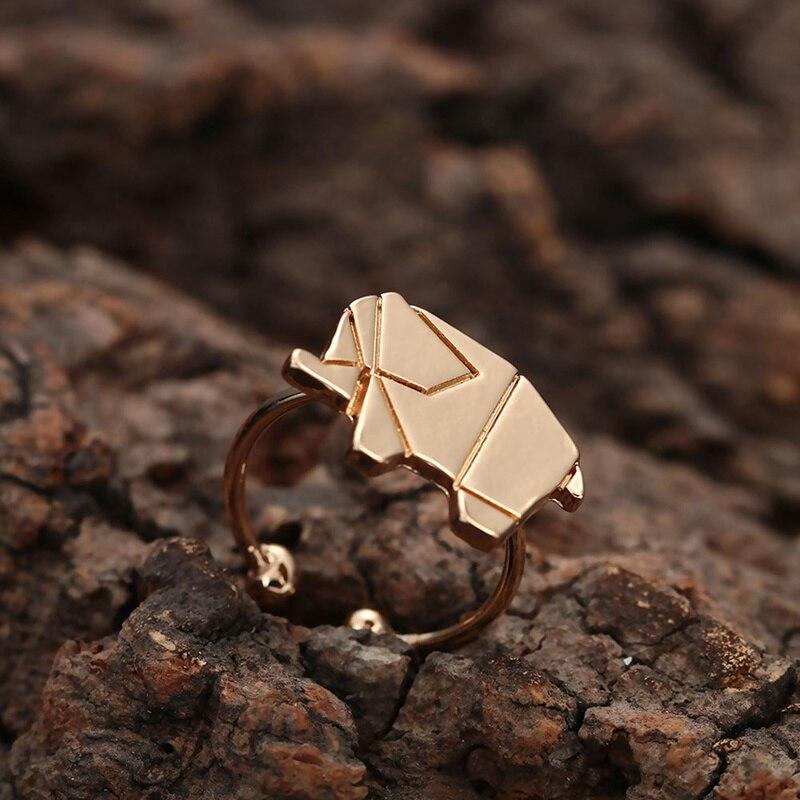 Слон Кольца Рождественский подарок идеи для Для женщин животного кольца Регулируемый оригами хип-хоп кольцо купить оптом Китай ...