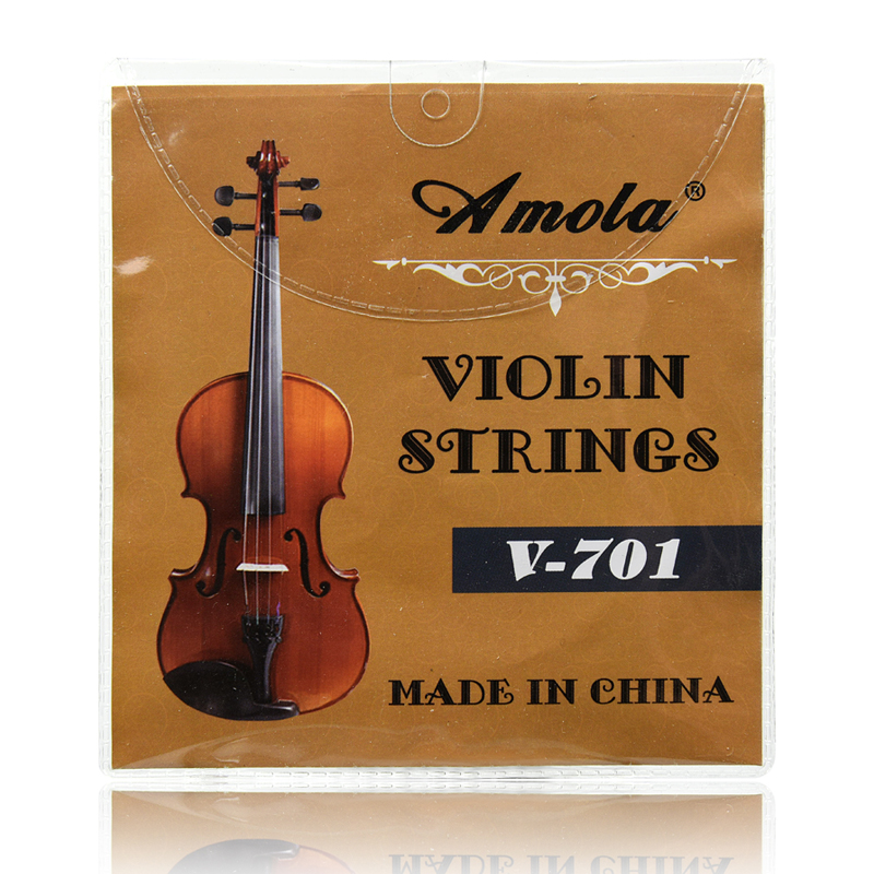 Amola V-701 1/4 1/8 3/4 4/4 Violin Strings Stainless Steel Nickel Wound Violin  Strings for 4/4 0.28 0.50 0.60 0.76