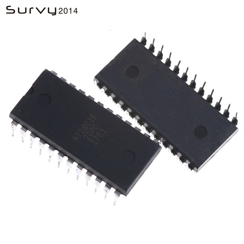 10pcs AT28C16-20PC AT28C16 20PC 28C16 8K x 8 EEPROM DIP-24