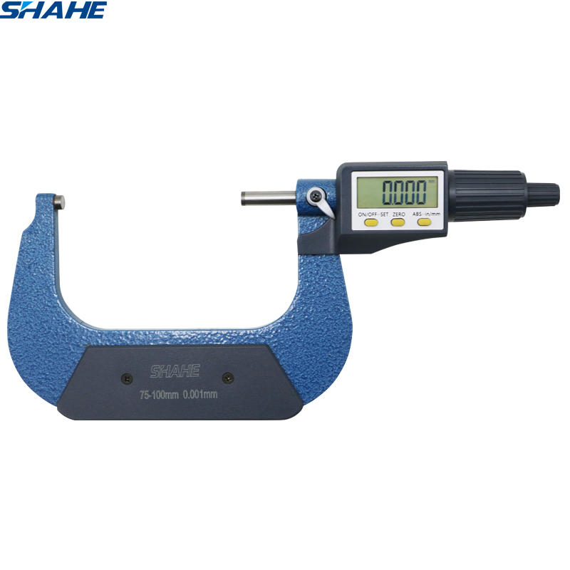 shahe 75 100 mm 0.001 mm electronic outside micrometer With Retail Box micron outside micrometer caliper gauge