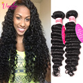 8a Peruvian Deep Wave Virgin Hair 2 PCS Dark Light Brown Peruvian Curly Hair 8-30 Inch Curly Human Hair Bundles Fast Shipping 1b