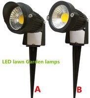 10 stücke Helle AC/DC12V 220 V 110 V 5 Watt COB LED Rasen lampen Licht IP65 Wasserdicht Landschaft Außenleuchten Garten Pfad Pond licht