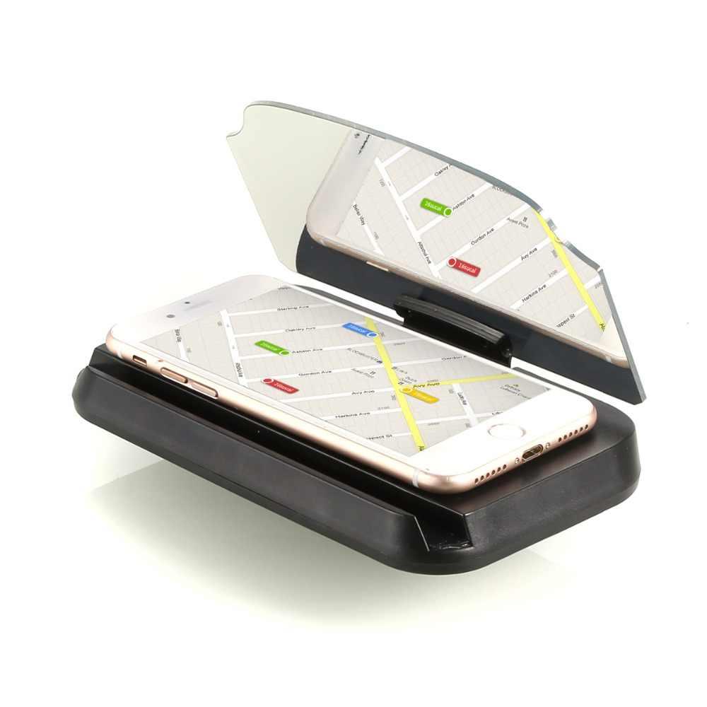 حاجب زجاجي للسيارة العارض هود رئيس متابعة العرض العالمي حامل هاتف المحمول متعددة الوظائف 5.5 بوصة لفون ل سامسونج GPS