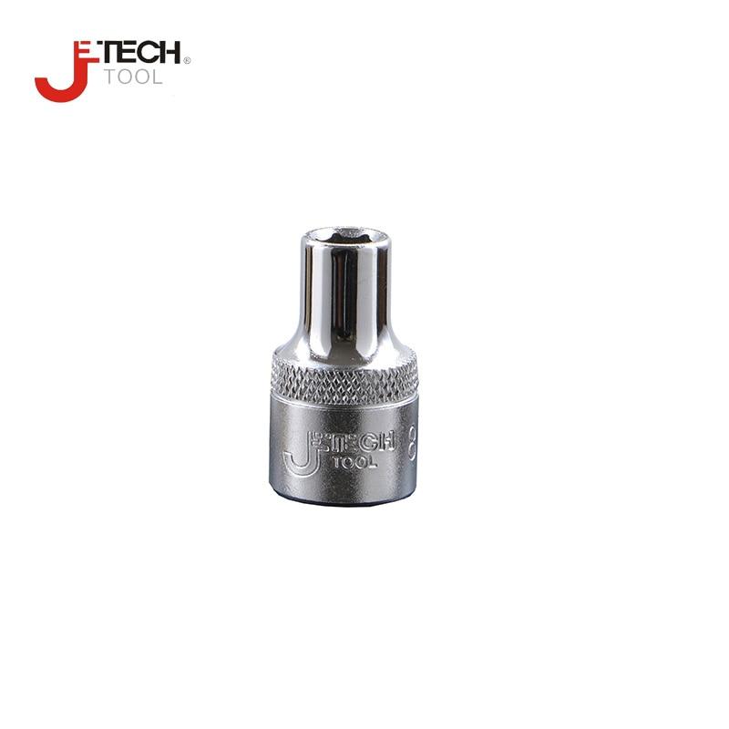 Jetech 1/4 In. Drive 6-point Standard Socket 4mm 4.5mm 5mm 5.5mm 6mm 7mm 8mm 9mm 10mm 11mm 12mm13mm 14mm Chrome Cr.v Steel- 1PCS