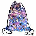 New arrivel drawstring printing backpack summer women fashion shoulder bag Donut sweets casual mochila School satchel girl pack