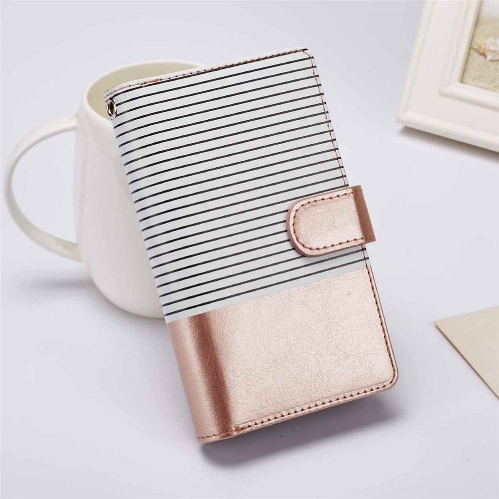 For iPhone 7 Luxury Stripe Leather Wallet Case For iPhone 5 5S 6 6S Plus 7 8 Plus X Magnet TPU Cover Ladies Hand Strap