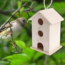 Wooden Garden Decoration Supplies Outdoor Feeding Hanging Nest House Bird Feeder