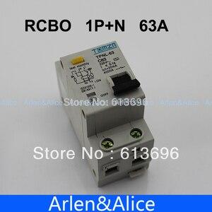 DPNL 1P + N 63A 230 В ~ 50 Гц/60 Гц автоматический выключатель остаточного тока с защитой от перегрузки по току и утечки RCBO