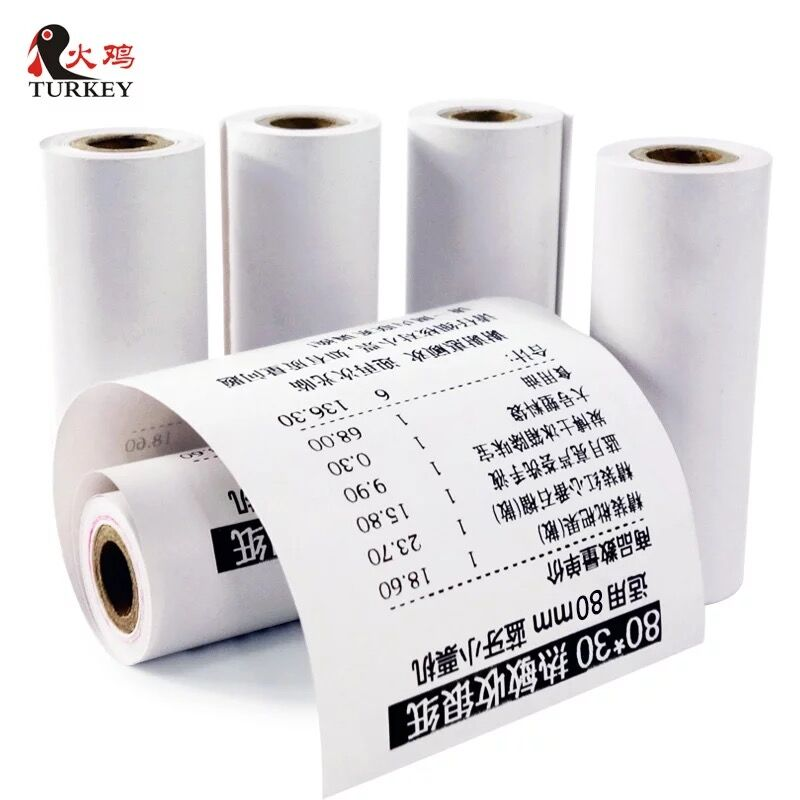 Mobile POS Thermal Receipt Paper Roll   80x30 Mm Bluetooth Mini Thermal Printer, 5 Rolls, Width 80mm