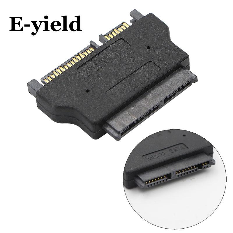 Micro SATA 16 pin Female to 22 Pin Left Angle SATA III Female Cable 5 Inches