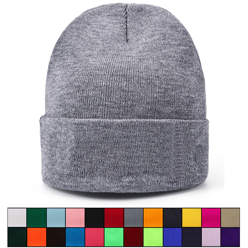 MEGE Men's   Skullies     Beanie   Winter Hats for Woman Colorful Knitted Solid Cute Girls Cap Autumn Female Bonnet Femme Hiver Gorro