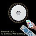 Птичье гнездо  современные потолочные светильники RGB с регулируемой яркостью  36 Вт  40 Вт  приложение  дистанционное управление  Bluetooth  музыка...