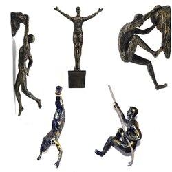 Estátuas do esporte extremo esculturas escalada figura decoração da parede pingente de mergulho parede pendurado estátua barra de fundo do hotel decoração