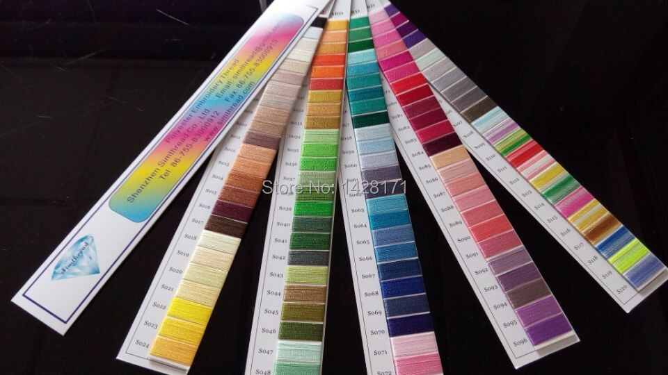 Aliexpress.com  Buy Simthread Polyester Embroidery Thread Color Chart/color Shade Card /color ...