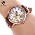 BAJEETA Vintage Aircraft Women Watch Fashion Arabic Number Dial Leather Quartz Men Watches Hot Sale World Map Relogio Feminino