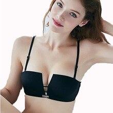 Half Cup 1/2 Small chest Push Up Smooth Seamless Bra Soft wedding dress Women Sexy underwear summer bra