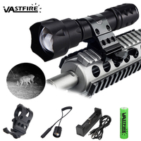 400 yard Zoomable Focus Tactical Weapon Light 7W 850 nm LED Infrared Radiation IR Lamp Night Vision Hunting Infrared Flashlight