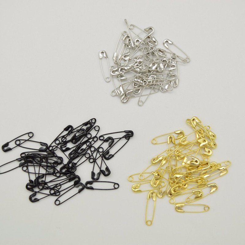 1000 pcs three colors small nickel plated safety pins 4/5'' length (18mm) wholesales for garment hang tag