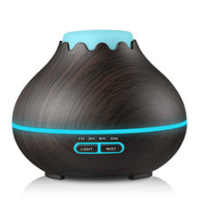 400ml Ultrasonic Air Humidifier Aroma Essential Oil Diffuser Aromatherapy ไฟฟ้า Mist Aroma โคมไฟสำหรับ Home-ไม(China)