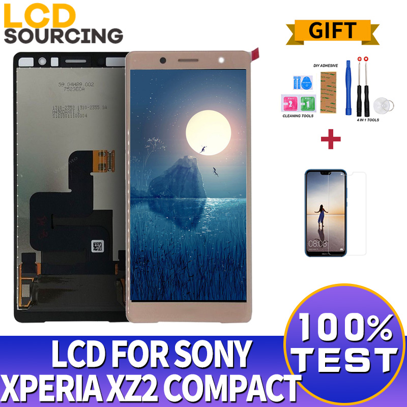 5.0 Inch LCD Display For Sony Xperia XZ2 Compact / XZ2 Mini Touch Screen Digitizer Assembly With Frame For Sony XZ2 Compact LCD