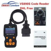 DHL Free Vgate VS 890 VS890S OBDII EOBD Code Reader Vgate Maxiscan VS890 VS890S OBD2 OBD Car Diagnostic Tool Clear Fault Codes