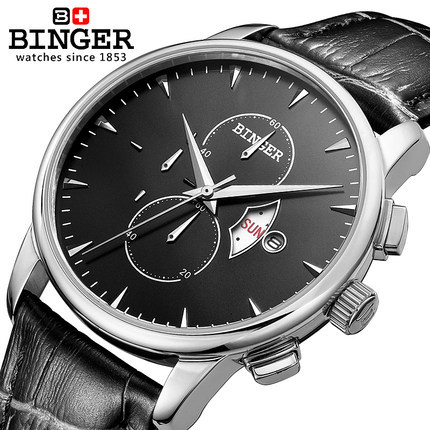 Binger Luxury Brand font b Watches b font Men Quartz Full steel font b Military b