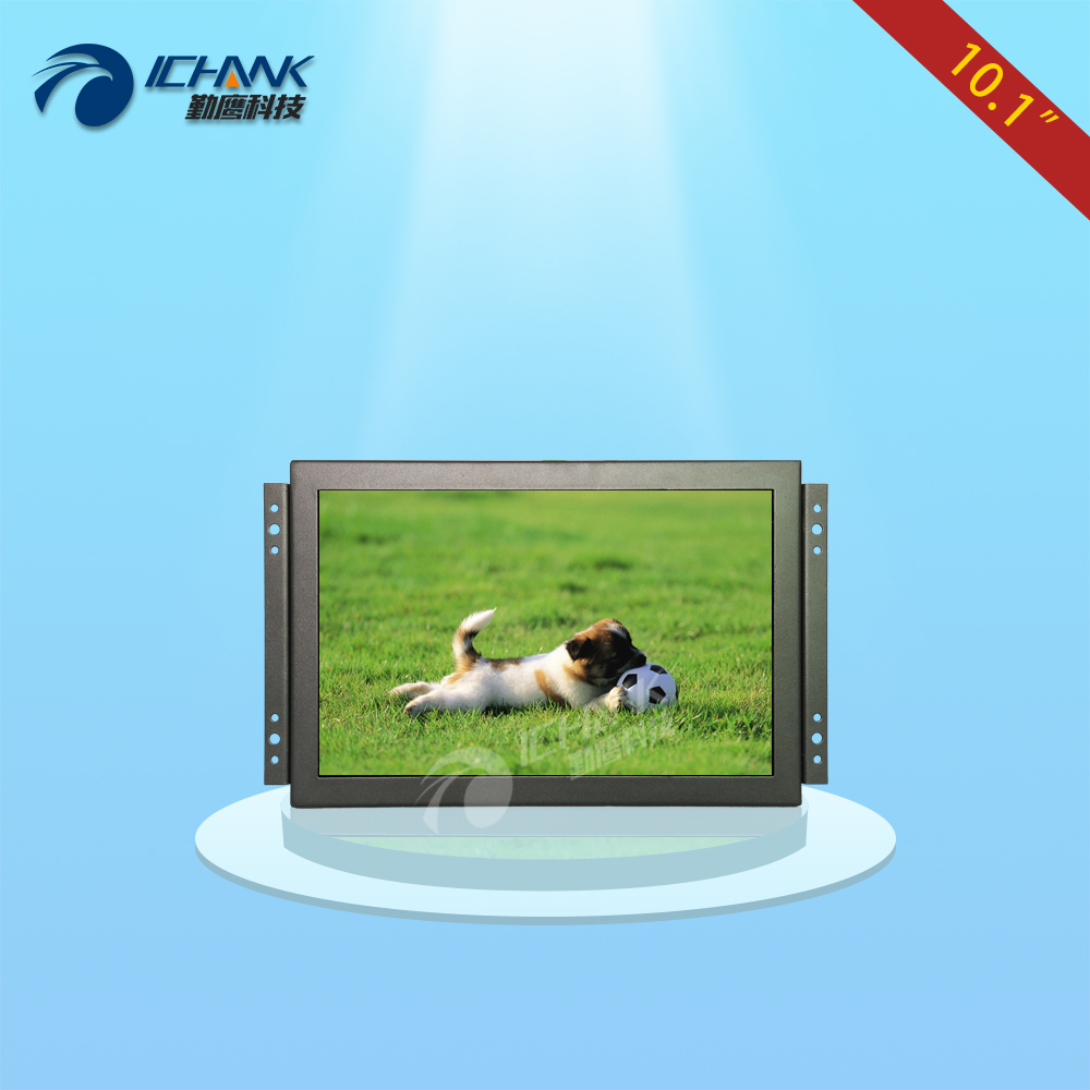 ZK101TN-V59/10.1 inch 1280x800 Full View Metal Case BNC HDMI VGA Embedded Open Frame Wall-hanging Industrial Monitor LCD Screen zk080tn 705 8 inch 1024x768 4 3 metal case vga signal open wall hanging embedded frame industrial monitor lcd screen display