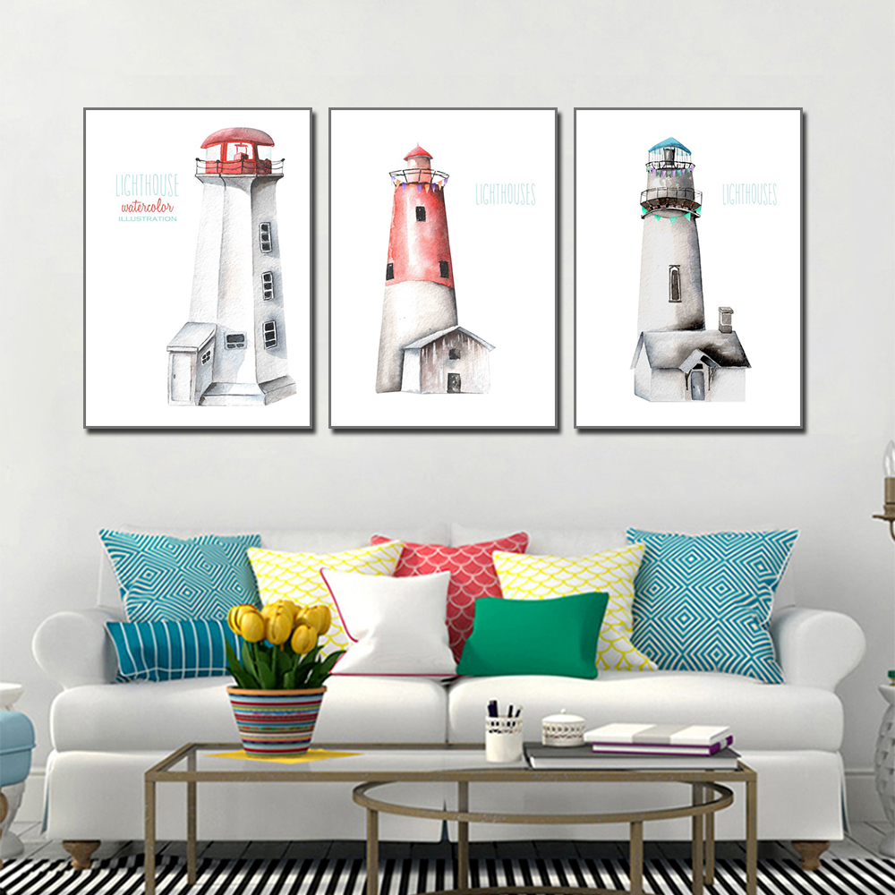 Canvas Art Paintings Cartoon Castle Living Room Decoration Painting Wall Posters And Prints Pictures