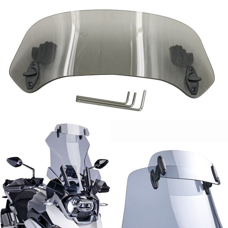 Adjustable Clip On Windshield Extension Spoiler For BMW G310 GS 2016 Clear