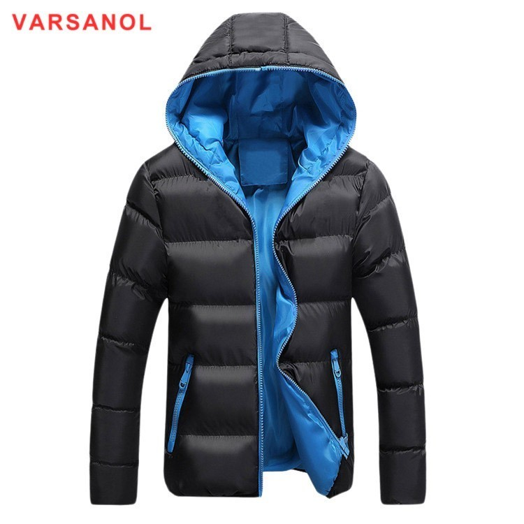 Varsanol Winter Jackets And Coats 2018   Parkas   For Men Cotton Coat Slim Hooded Warm Thick Jacket Casual Outwear Plus Size 4XL New