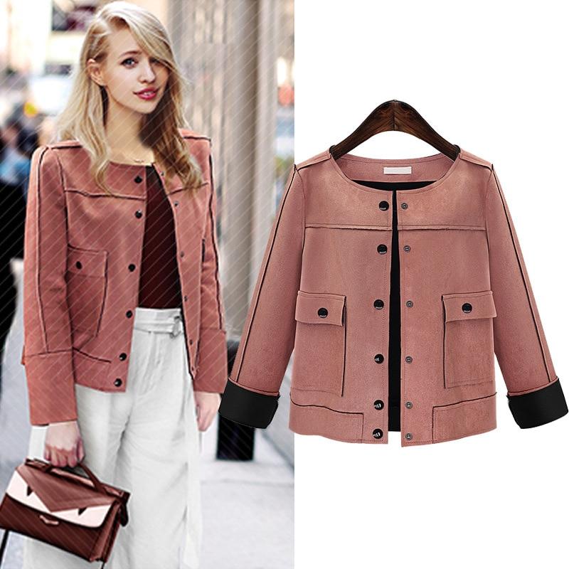 Plus size 5XL Europe fashion jacket women autumn winter coat suede ...
