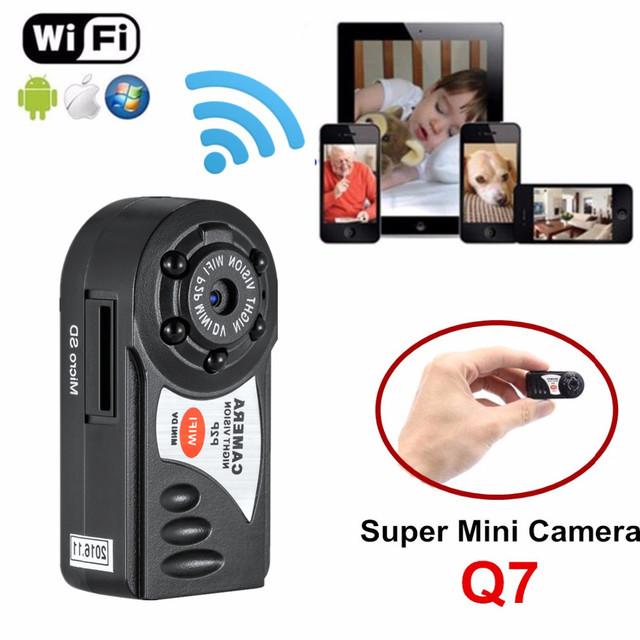 Q7 wifi mini dvr cámara de vídeo grabadora de cámara ip inalámbrica cámara de visión nocturna por infrarrojos motion detección