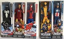 Marvel Titan Super Hero Wolverine Avengers Captain America Ultimate Spider-Man Assemble Iron Man 29cm huge Action Figure Toys marvel universe ultimate spider man