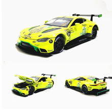 1:32 Scale Aston Martin Vantage GTE Le Mans Diecast Metal Toy Model Pull back Sound Light Racing Car Educational Collection