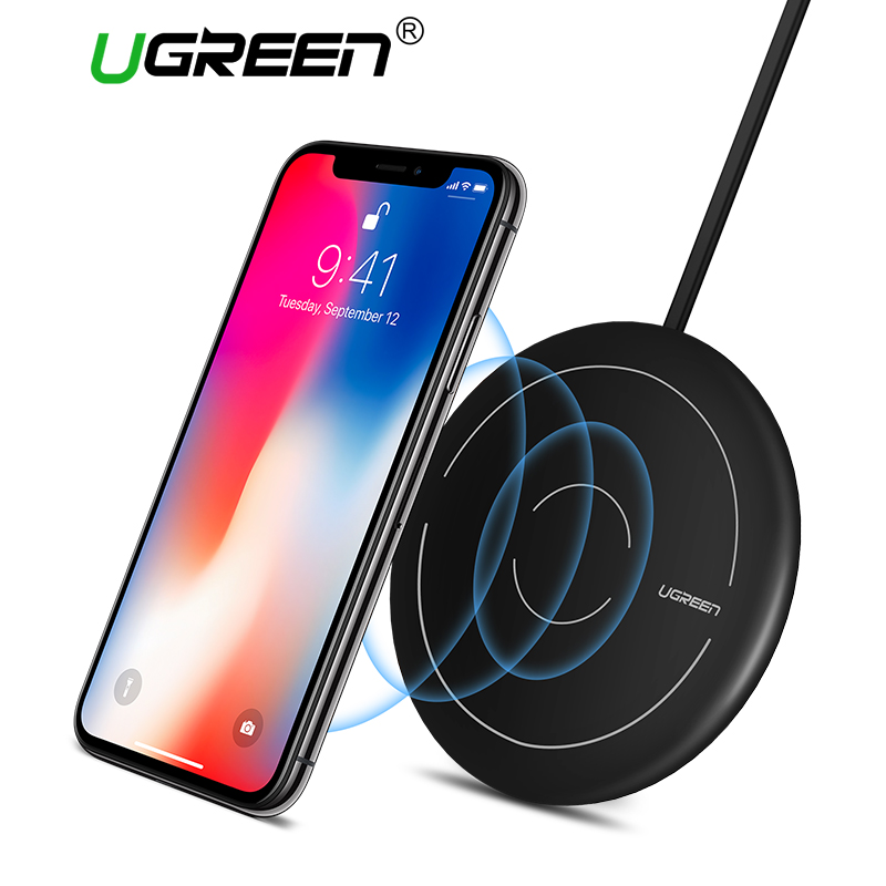 Ugreen Qi Wireless Charger for iPhone 8/X /8 Plus 10W Fast Wireless Charging Pad for Samsung Galaxy S8 S9 S7 Wireless Charger