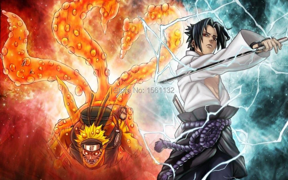 Free Shipping Hd Wallpaper Posters Naruto Uzumaki Nine Lama