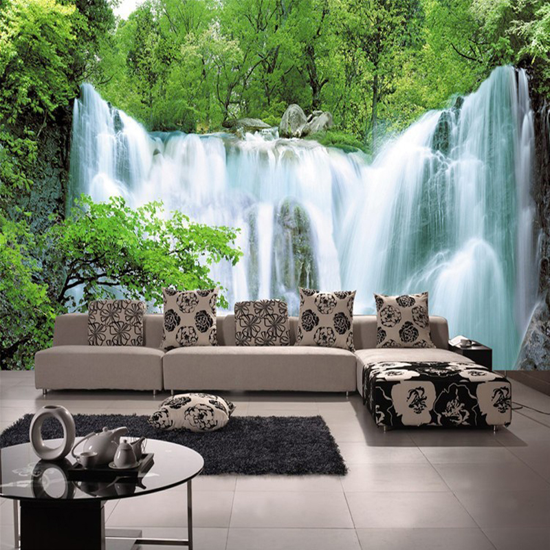 Custom 3d mural wallpaper non woven nature scenery wall for Nature room wallpaper