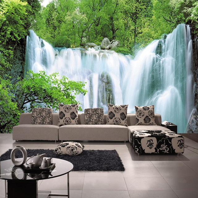 Custom 3D Mural Wallpaper Non Woven Nature Scenery Wall For Living Room Art