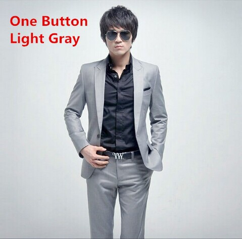 one button light gray
